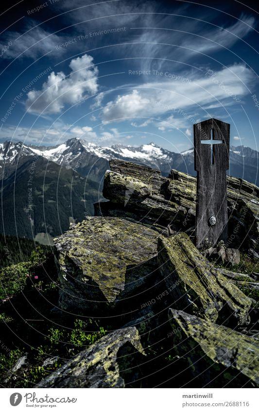 Erinnerung im Himmelszelt Ferien & Urlaub & Reisen Ausflug Abenteuer Ferne Berge u. Gebirge wandern Klettern Bergsteigen Wolken Felsen Alpen Gipfel Speikboden