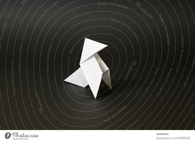 Origami Fliege schwarz-weiß Design Freizeit & Hobby Handarbeit Freiheit Dekoration & Verzierung Handwerk Vogel machen einfach frei Glaube Religion & Glaube Idee