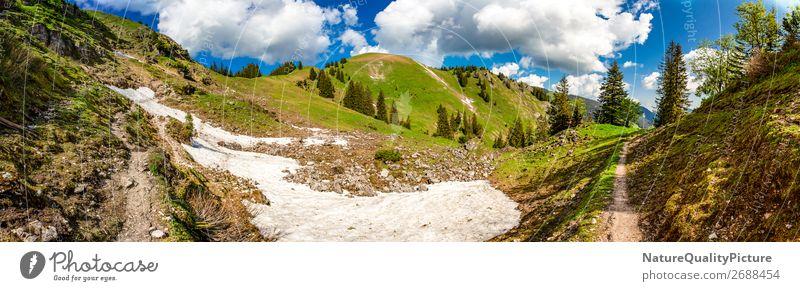 Panorama - Footpath - Oberjoch - Allgaeu - Bavaria - Germany Ferien & Urlaub & Reisen Sommer Umwelt Natur Wiese Wald Alpen Berge u. Gebirge Gipfel Schlucht Diät