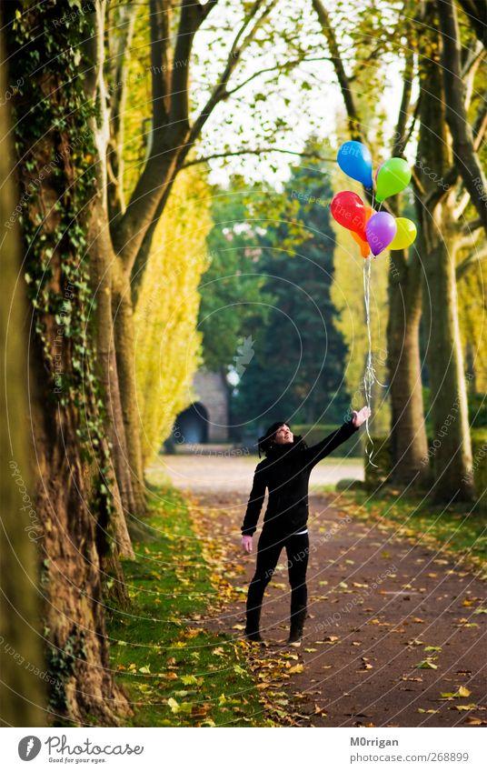 Baloon Mensch Natur Jugendliche blau grün Baum rot Pflanze Freude Blatt Erwachsene gelb Garten Park Junge Frau Platz