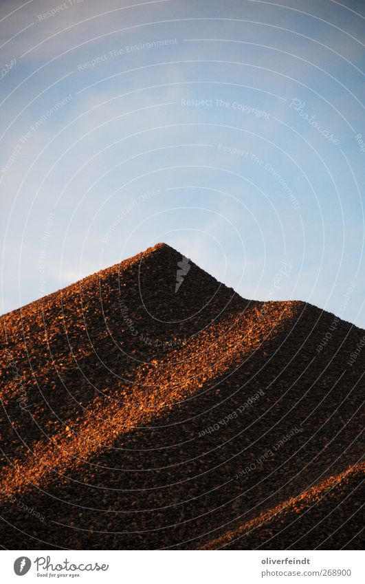 Kiesberg Himmel blau Sommer Erholung Umwelt Wärme Frühling Freiheit Stein Stimmung Horizont Erde Zufriedenheit glänzend groß frei