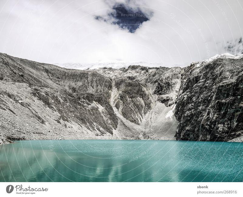 Huaraz Umwelt Natur Urelemente Wasser Eis Frost Hügel Felsen Alpen Berge u. Gebirge Gipfel Schneebedeckte Gipfel Gletscher Ferien & Urlaub & Reisen wandern