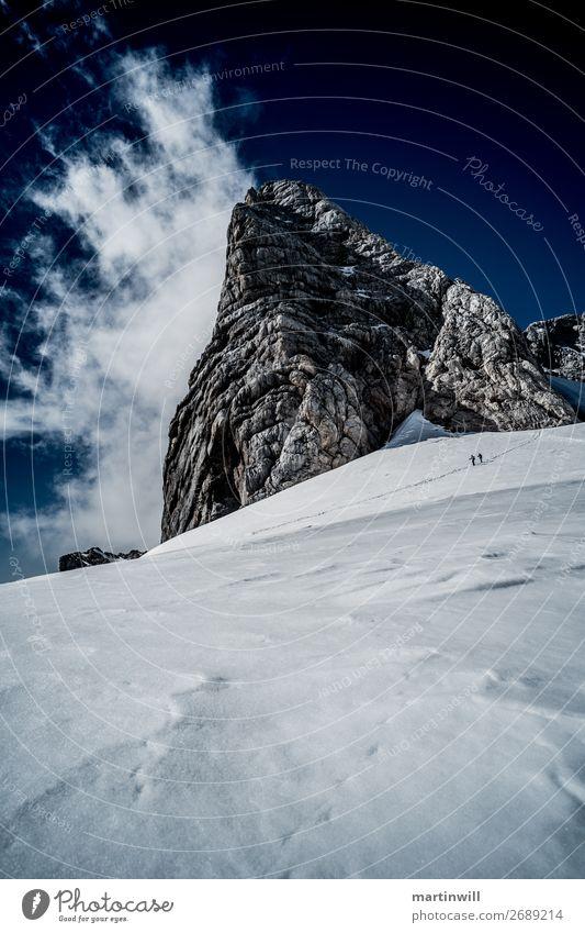 Abstieg vom Dachstein (hochkant) Ferien & Urlaub & Reisen Tourismus Ausflug Abenteuer Berge u. Gebirge wandern Klettern Bergsteigen 2 Mensch Natur Landschaft