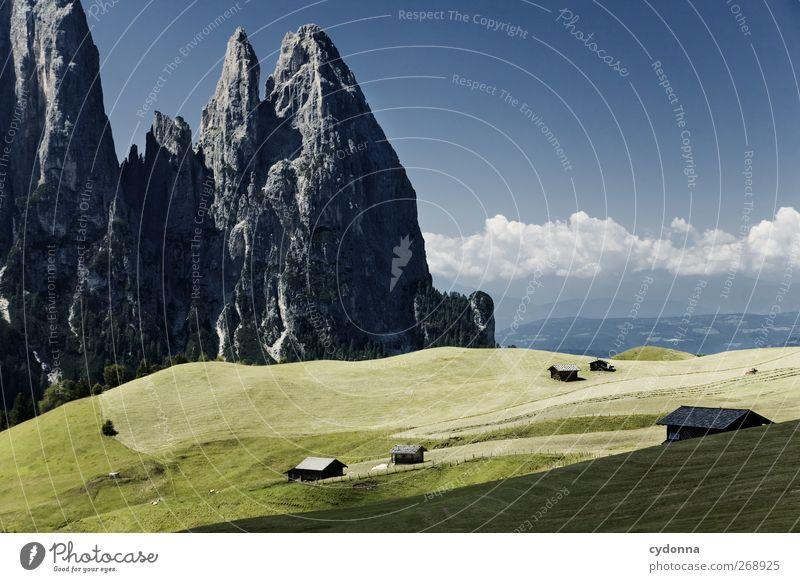 Bergkulisse Wohlgefühl Erholung ruhig Ferien & Urlaub & Reisen Tourismus Ausflug Ferne Freiheit wandern Umwelt Natur Landschaft Himmel Sommer Schönes Wetter