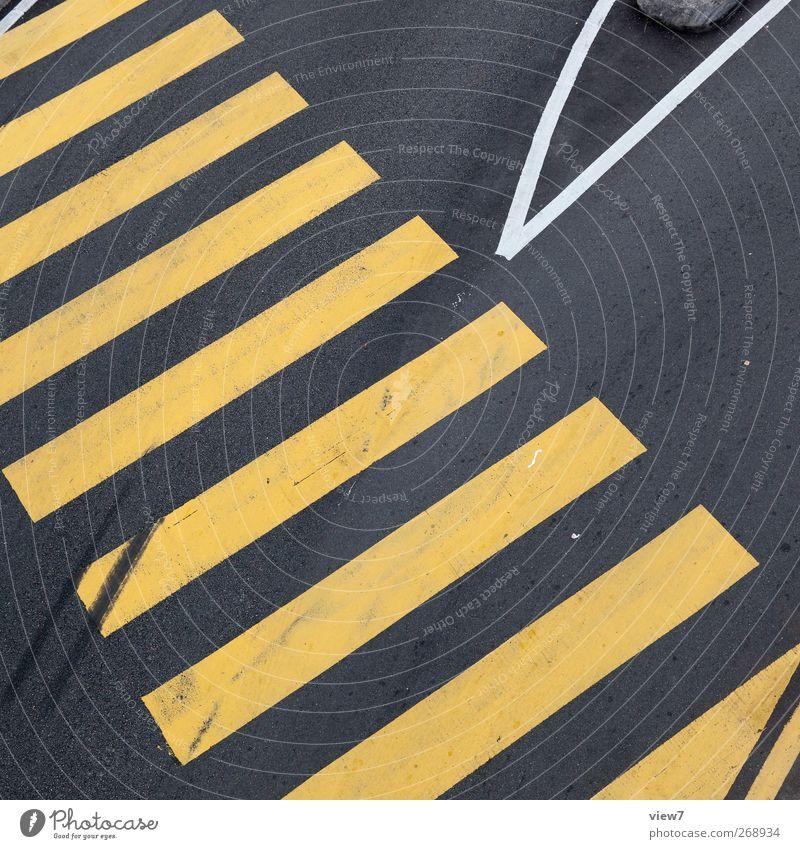 zebra Stadt Farbe Umwelt gelb Straße kalt Stein Linie Schilder & Markierungen Ordnung Beginn Beton Design Verkehr frisch ästhetisch