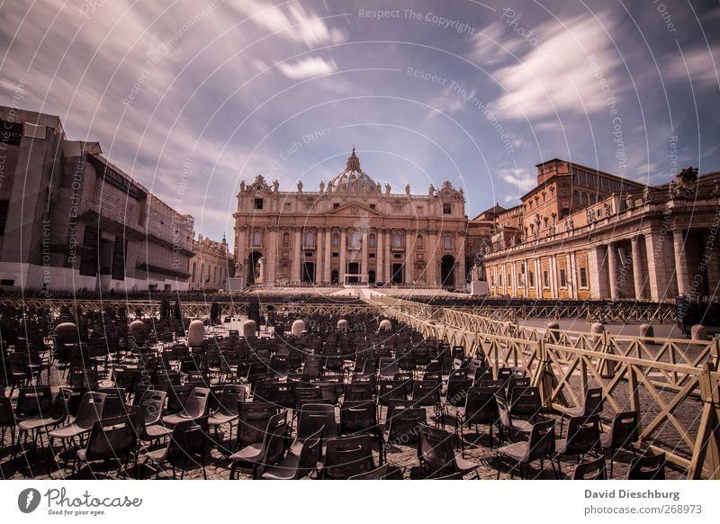 Rom/Petersdom Ferien & Urlaub & Reisen Religion & Glaube braun Stuhl Italien Bauwerk historisch Veranstaltung Sommerurlaub heilig Wahrzeichen Stadtzentrum