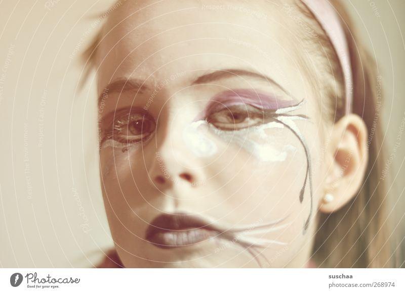 auch hexls werden größer ... feminin Mädchen Kindheit Haut Kopf Haare & Frisuren Gesicht Auge Ohr Nase Mund Lippen 1 Mensch 3-8 Jahre Vorsicht ernst Blick