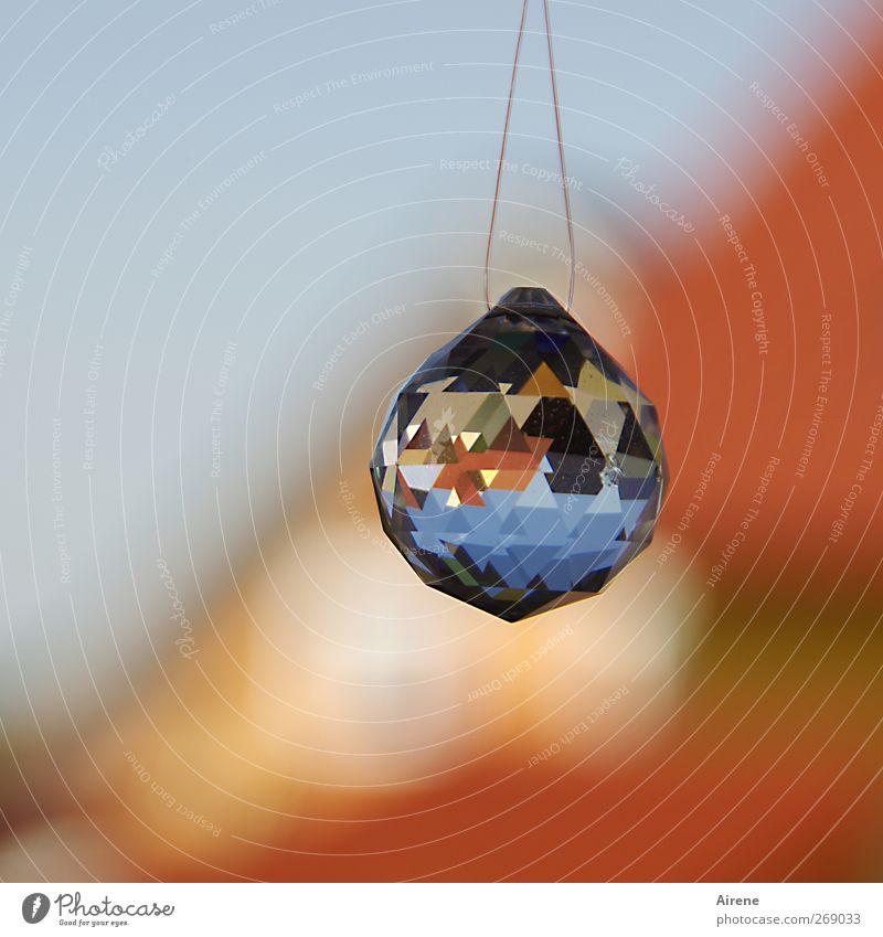 vielfache Klarsicht Häusliches Leben Dekoration & Verzierung Menschenleer Einfamilienhaus Fenster Glas Kristalle Zeichen Ornament Kugel Prisma Facetten glänzend