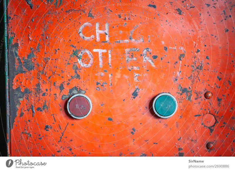 431 [red or green] Fabrik Industrie Handwerk Werkzeug Maschine Technik & Technologie Zeichen Graffiti wählen retro trashig Stadt orange Beginn Erwartung Idee