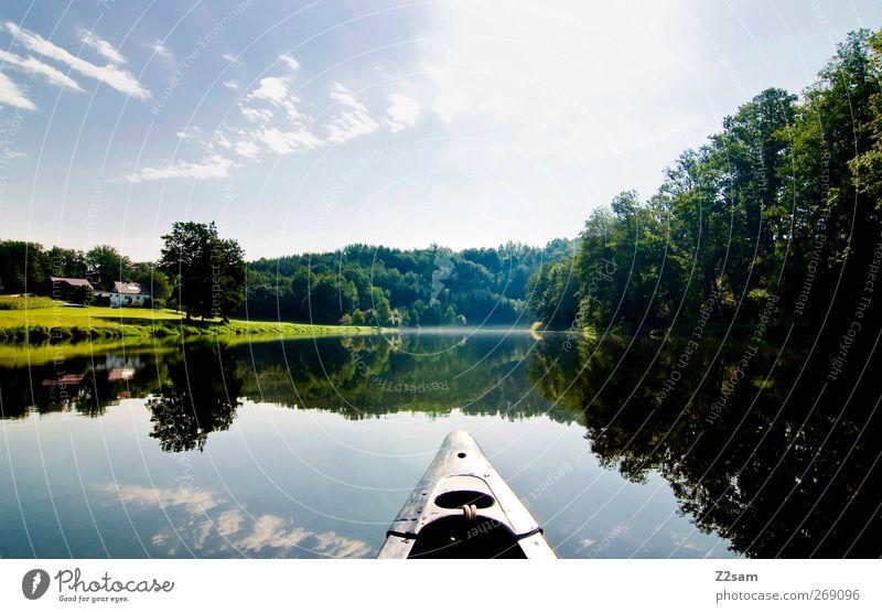 oh du schönes Bayern Himmel Natur Wasser Ferien & Urlaub & Reisen Baum Sonne Sommer ruhig Erholung Umwelt Landschaft See Wasserfahrzeug Freizeit & Hobby