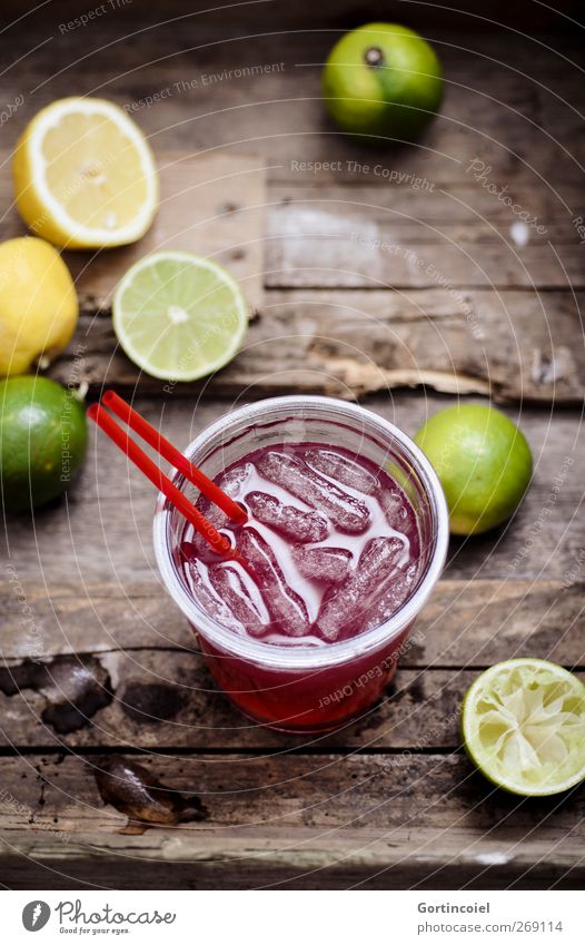 Drink Lebensmittel Frucht Slowfood Getränk Erfrischungsgetränk Limonade Longdrink Cocktail Glas Trinkhalm lecker Limone Zitrone Foodfotografie Eiswürfel