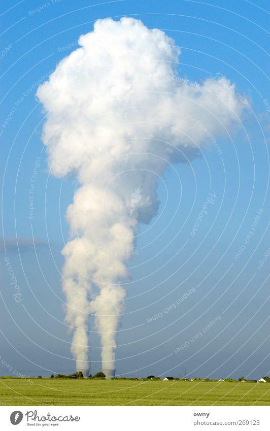 Wolkenfabrik Industrie Energiewirtschaft Technik & Technologie Fortschritt Zukunft High-Tech Kernkraftwerk Energiekrise Umwelt Natur Industrieanlage Architektur