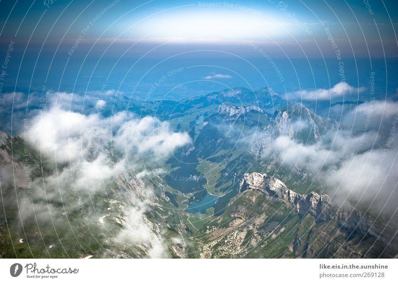 dem himmel so nah Himmel Ferien & Urlaub & Reisen Sommer Wolken Ferne Landschaft Berge u. Gebirge Gefühle Frühling Freiheit See Stimmung Horizont Felsen hoch