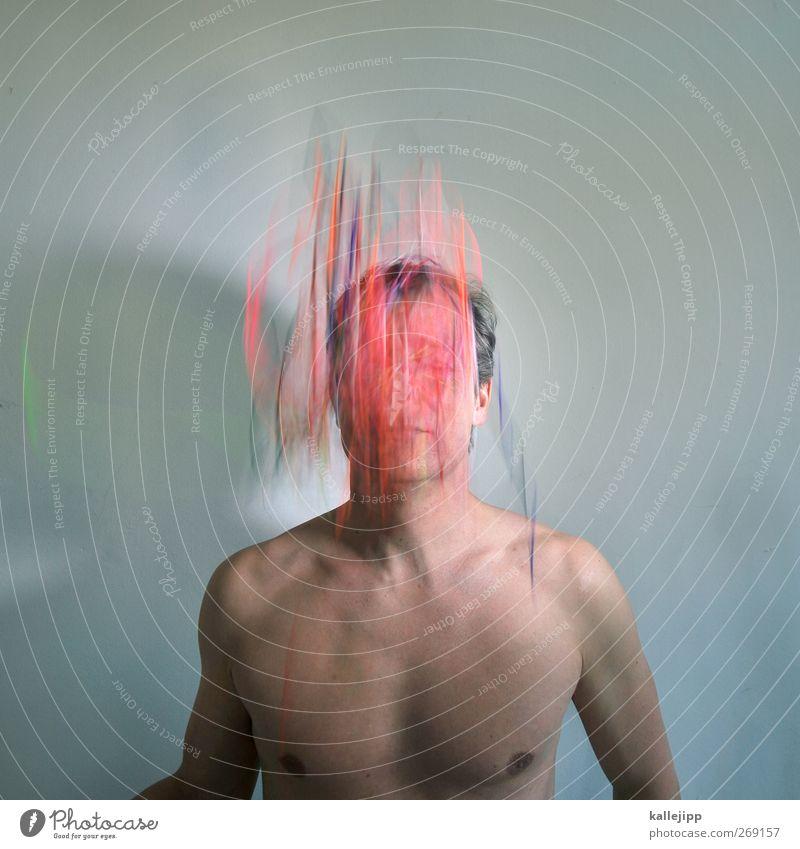 thinking Mensch Mann Erwachsene Bewegung Denken träumen Körper Haut maskulin Telekommunikation Schnur Kreativität Informationstechnologie Gedanke Vernetzung