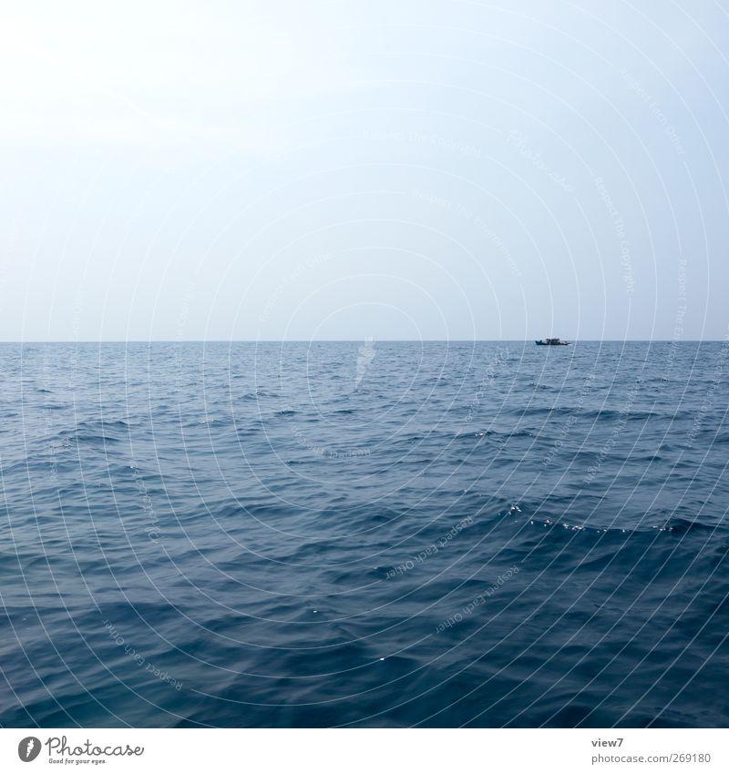 jwd Umwelt Natur Landschaft Wasser Himmel Wolkenloser Himmel Sommer Klima Schönes Wetter Wellen Meer Schifffahrt Bootsfahrt An Bord beobachten fahren machen