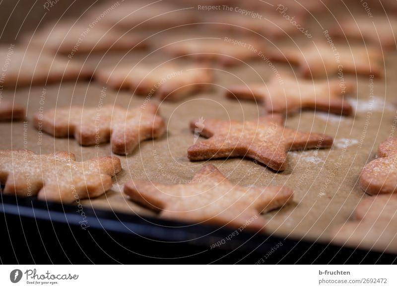 Homemade cookies in the oven. Lebensmittel Teigwaren Backwaren Süßwaren Ernährung Gesunde Ernährung Feste & Feiern Weihnachten & Advent Jahrmarkt Koch Küche