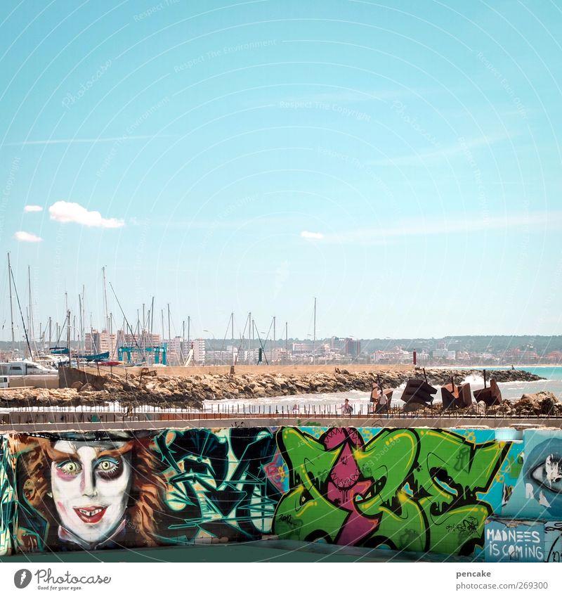 major|gagga Ferien & Urlaub & Reisen Sonne Meer Freude Graffiti Spielen Kunst außergewöhnlich Insel Beton Tourismus Dekoration & Verzierung kaputt Kommunizieren