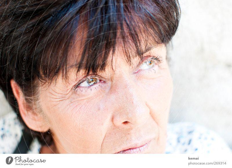 Punkte und Linien Mensch Frau schön ruhig Erwachsene Gesicht Auge feminin Leben Senior Gefühle Haare & Frisuren Kopf Stil elegant Haut