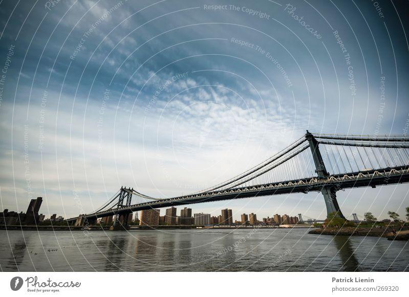No sleep till Brooklyn Wasser Ferien & Urlaub & Reisen Stadt Ferne Bewegung Architektur Stimmung Freizeit & Hobby hoch elegant Tourismus ästhetisch Brücke