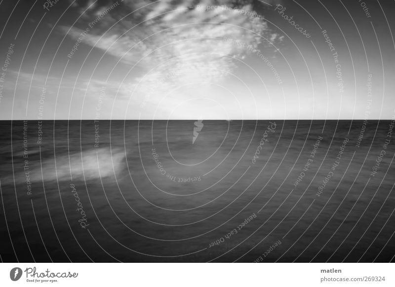 Untiefe Himmel Natur Wasser weiß Wolken schwarz Landschaft Wellen