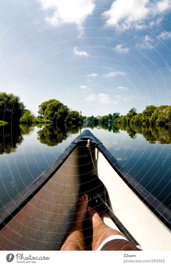 das war schön! Ferien & Urlaub & Reisen Sommer Sommerurlaub Kanu Natur Landschaft Wasser Himmel Wolken Schönes Wetter See Fluss Erholung frei ruhig