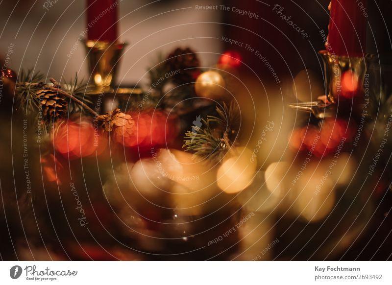 Weihnachtsdekoration Adventszeit Kunst atmosphärisch Hintergrund Hintergründe schön Niederlassungen brennend Kerze Kerzenschein Feier Weihnachten Weihnachtszeit
