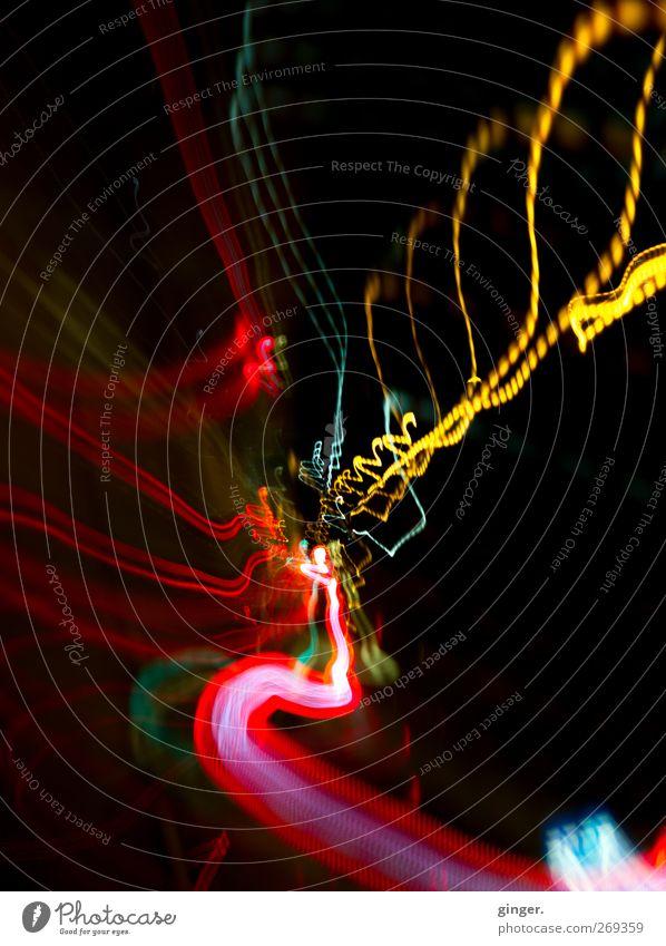 Colors of Light Linie hell leuchten Ziel Mitte Dynamik Verschiedenheit Zickzack Lichtstreifen Gebündeltes Licht Tunnelbeleuchtung