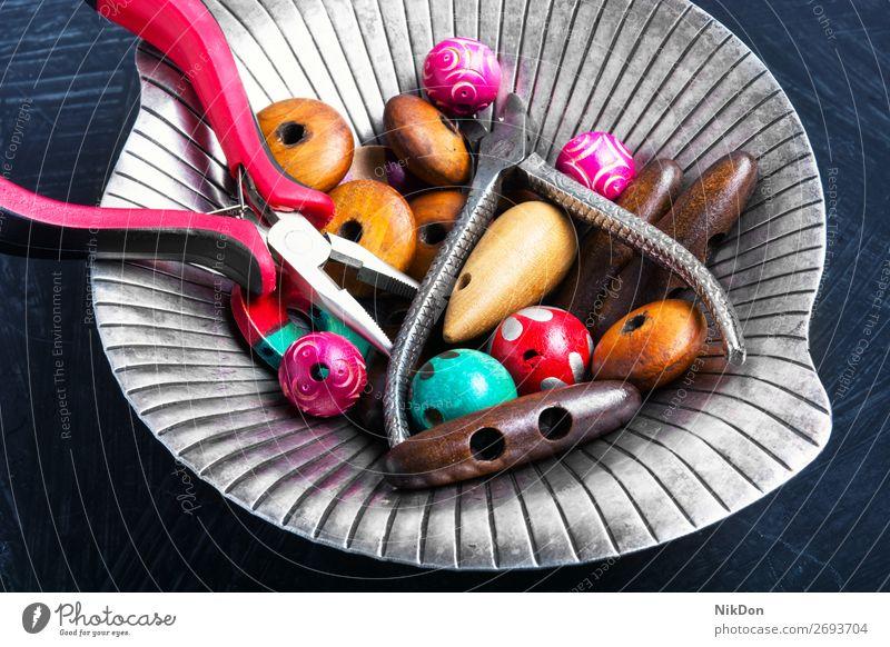 Perlenmischung für das Kunsthandwerk Wulst Handwerk Hobby stylisch Tablett Dekoration & Verzierung handgefertigt Mode Design Kulisse Accessoire Zange Schmuck