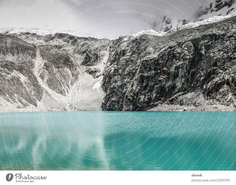 Icy Mountain Fortress Himmel Natur Wasser Ferien & Urlaub & Reisen Wolken Umwelt Landschaft kalt Schnee Berge u. Gebirge See Eis Regen Felsen wandern Frost