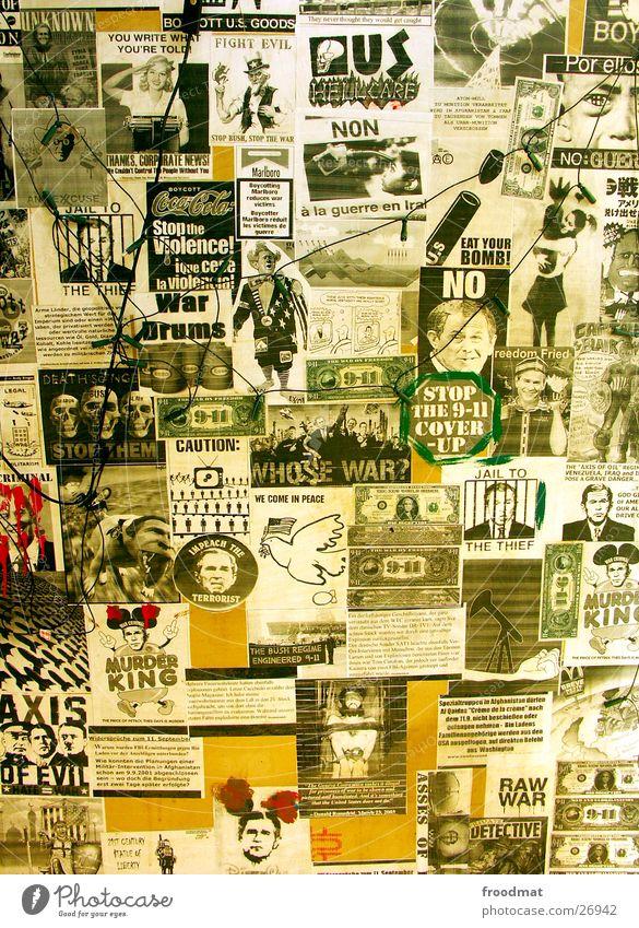 Terror-Bush #3 Tod Kunst Fotografie Hoffnung Medien Krieg Amerika Gebet gegen Politik & Staat Kriminalität protestieren Collage Mörder