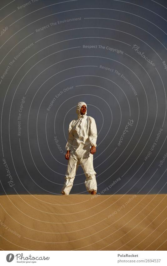 #AS# The Dark Side Kunst ästhetisch Kostüm Karnevalskostüm verkleiden Außerirdischer außergewöhnlich Kreativität Wüste Wand Mensch Wissenschaften Zukunft