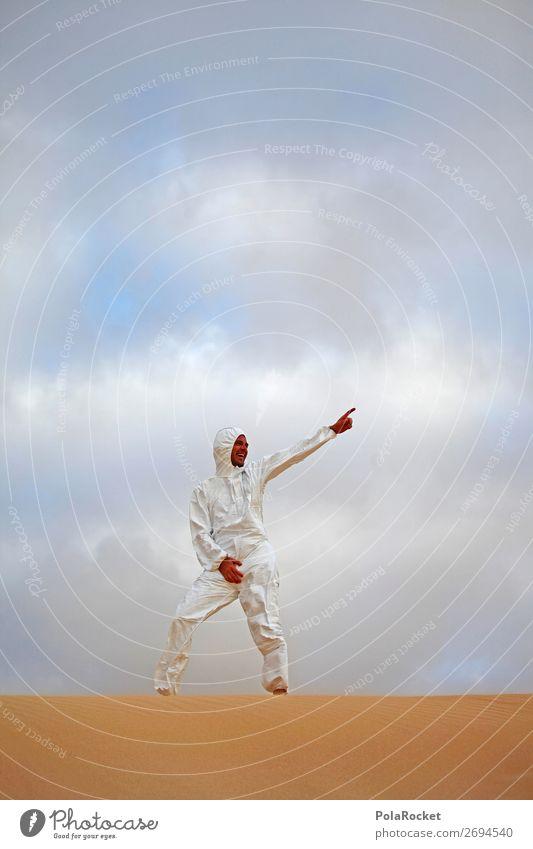 #AS# Raver Kunst ästhetisch Mann Kostüm Wüste Kreativität seltsam dumm verkleidet Außerirdischer außerirdisch Musik Techno Jugendliche Spielen Zukunft