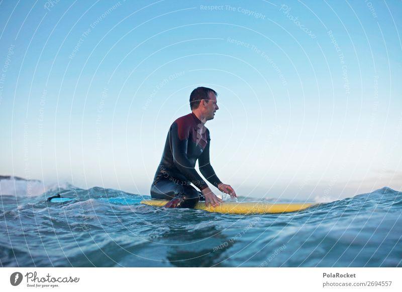 #AS# front row seat Wasser Kunst Wellen sitzen ästhetisch Aktion sportlich Surfen Wassersport Surfer Wellengang Surfbrett Meerwasser Neoprenanzug Aktivurlaub