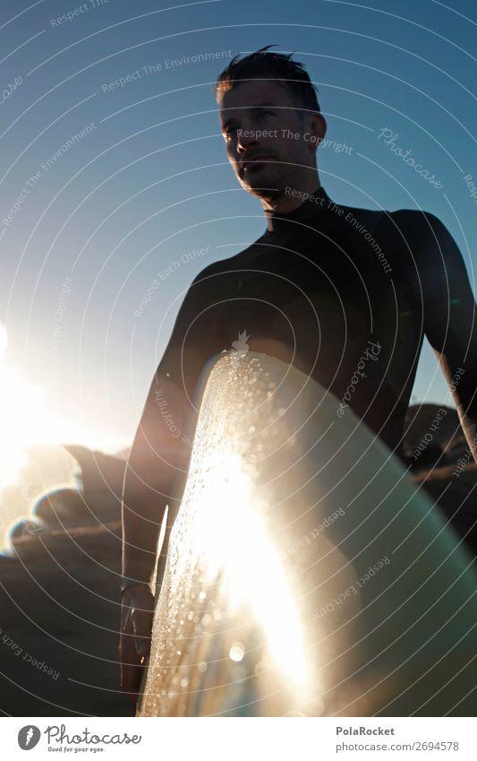 #AS# SurfGuy Kunst ästhetisch Surfen Surfer Surfbrett Surfschule Neoprenanzug Mann maskulin Wassersport sportlich Jugendliche Jugendkultur Manneskraft Farbfoto