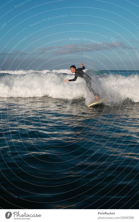 #AS# SH** 1 Mensch ästhetisch Surfen Surfer Surfbrett Surfschule Wellen Wellengang Wellenlänge Wellenschlag Gischt Wassersport Missgeschick lernen Farbfoto