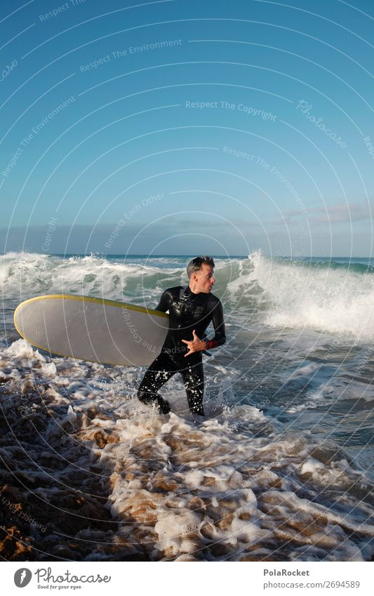 #AS# incoming 1 Mensch ästhetisch Surfen Surfer Surfbrett Surfschule Wellen Wellengang Wassersport Mann maskulin Aktivurlaub Sommerurlaub Urlaubsstimmung