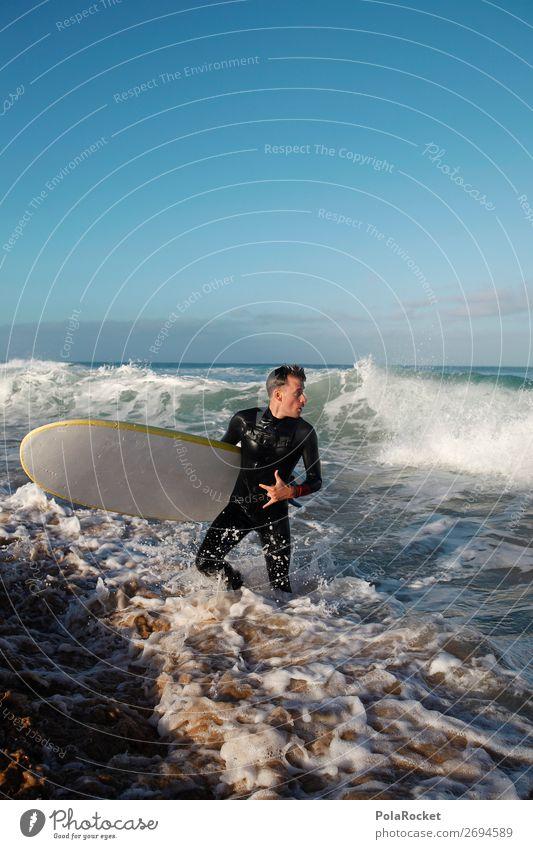 #AS# incoming Mensch Wellen ästhetisch Surfen Wassersport Surfer Wellengang Surfbrett Surfschule