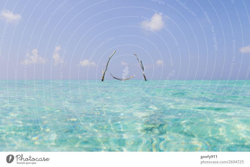Ruhepause Ferien & Urlaub & Reisen Tourismus Ferne Freiheit Sommer Strand Meer Insel Wasser Himmel Sonne Schönes Wetter Küste genießen Schwimmen & Baden träumen