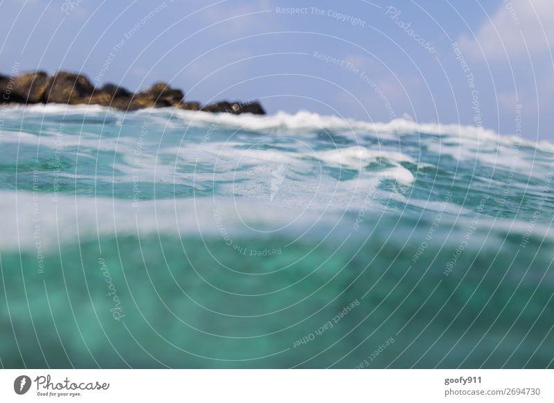 Blau in Blau II Ferien & Urlaub & Reisen Ausflug Abenteuer Ferne Freiheit Strand Meer Insel Wellen Wasser Himmel Schwimmen & Baden Farbfoto mehrfarbig