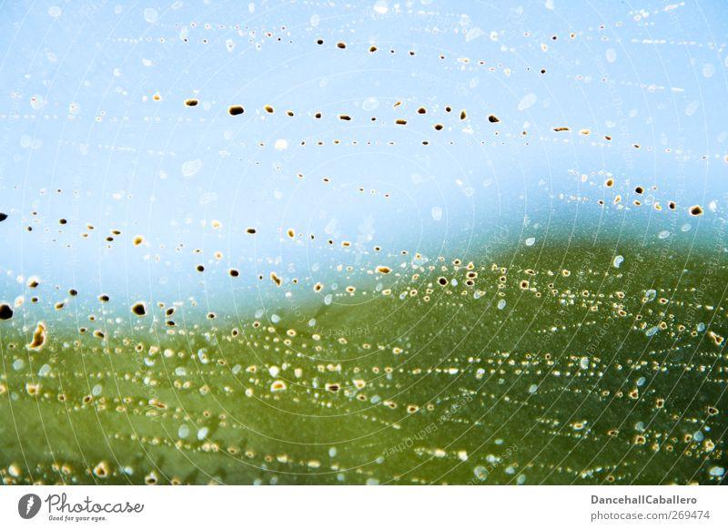 Zeit fürn Frühjahrsputz Natur blau Wasser grün Ferien & Urlaub & Reisen Umwelt Landschaft Berge u. Gebirge Traurigkeit braun Regen Glas dreckig Ausflug