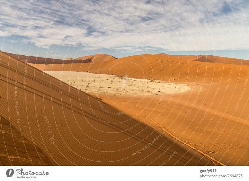 Deadvlei Namibia Himmel Ferien & Urlaub & Reisen Natur schön Landschaft Wolken Einsamkeit ruhig Ferne Wärme Umwelt Tourismus Freiheit Sand Ausflug träumen