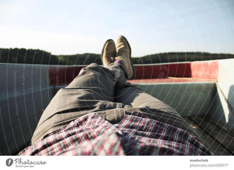 Idyllow bei Storkow Ferien & Urlaub & Reisen Sommer ruhig Erholung Freiheit Glück Stil See Beine Stimmung Gesundheit Zufriedenheit Freizeit & Hobby maskulin