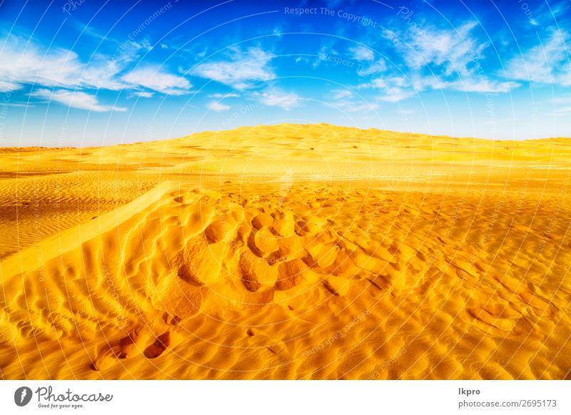 in der omanischen alten wüste reiben sie al khali das leere schön Ferien & Urlaub & Reisen Tourismus Abenteuer Safari Sommer Sonne Natur Landschaft Sand Himmel