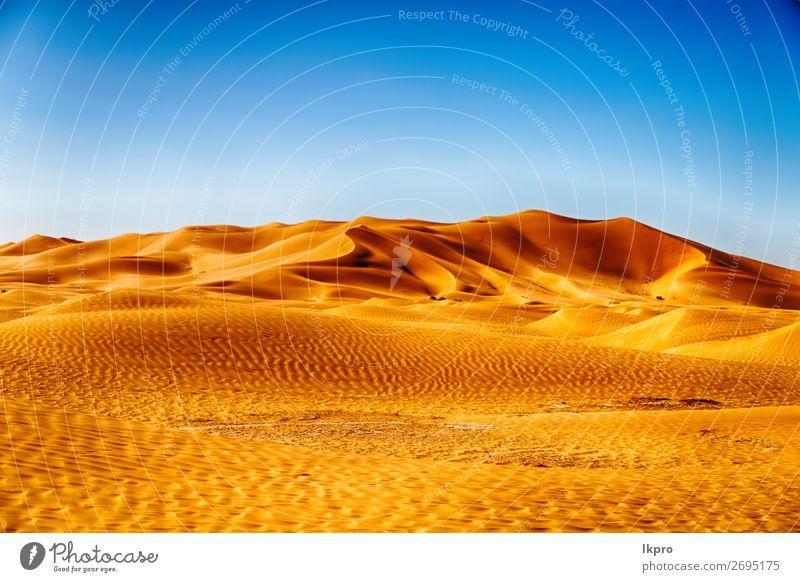 in der oman alten wüste reiben sie al khali das leere q schön Ferien & Urlaub & Reisen Tourismus Abenteuer Safari Sommer Sonne Natur Landschaft Sand Himmel