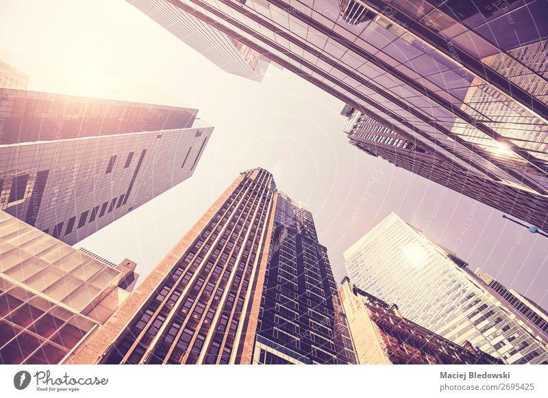 Blick auf Manhattan Gebäude, New York. Städtereise Büro Stadt Hochhaus Architektur Kapitalwirtschaft Geld Gesellschaft (Soziologie) kaufen Großstadt