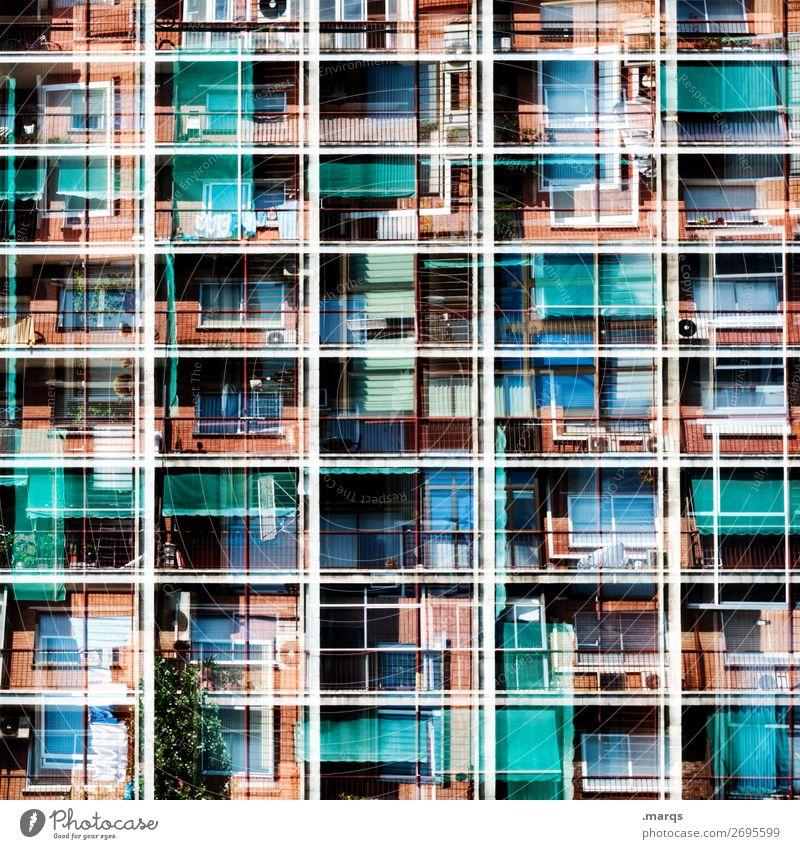 Individuell aber schnell Lifestyle Häusliches Leben Haus Umzug (Wohnungswechsel) Fassade Balkon Fenster Linie außergewöhnlich einzigartig modern komplex