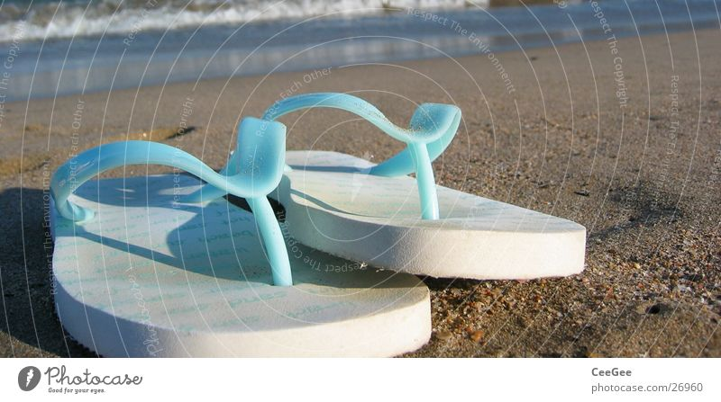 Flipflops weiß Meer blau Strand Sand Schuhe Freizeit & Hobby Dinge Spanien Flipflops Schlappen