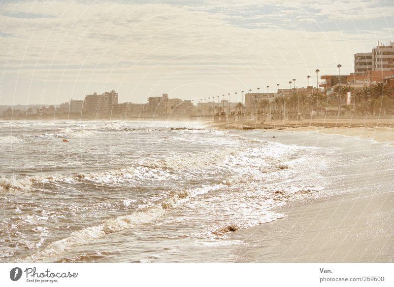 Wenn ich groß bin, wohn' ich am Strand ruhig Ferien & Urlaub & Reisen Tourismus Insel Wellen Landschaft Luft Wasser Himmel Wolken Frühling Pflanze Baum exotisch