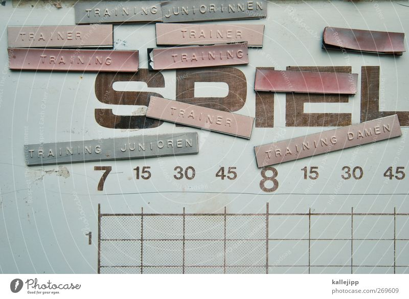 bum, bum, boris Sport Spielen Linie Zeit Freizeit & Hobby Ordnung Schilder & Markierungen Schriftzeichen Lifestyle planen Ziffern & Zahlen Zeichen Fitness Tafel