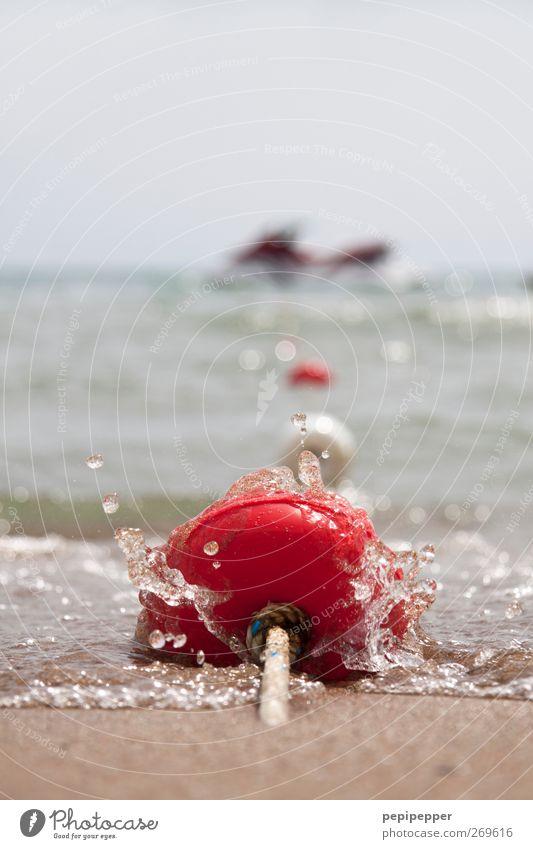 festgemacht Freizeit & Hobby Ferien & Urlaub & Reisen Sommerurlaub Strand Wellen Sand Wasser Himmel Küste Wasserfahrzeug Kunststoff Kugel Schwimmen & Baden